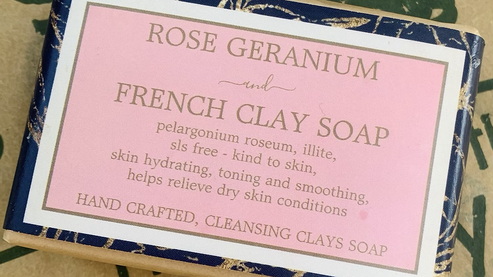 Cleansing Clays Rose Geranium and Pink Clay Soap