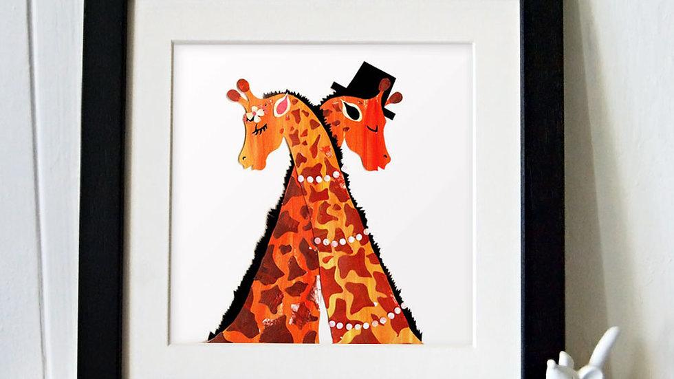 Giraffe wedding print