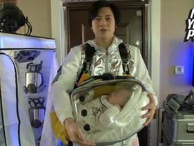 Designer chinês inventa cápsula de segurança para proteger seu filho do coronavírus