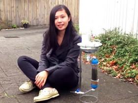 Jovem australiana inventa sistema que produz energia e limpa água