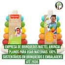 Empresa de brinquedos Mattel anuncia planos para usar materiais 100% sustentáveis em brinquedos e
