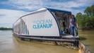 Interceptor: A nova máquina de limpeza de rios que remove 50 mil kg de plástico por dia