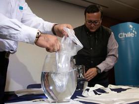 Engenheiros chilenos criam sacolas solúveis em água e que não poluem