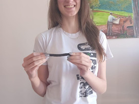Aluna de 16 anos cria canudo de casca de pinhão em Santa Catarina