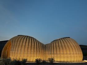 Casa sustentável impressa em 3D tem design baseado em colmeia de vespas