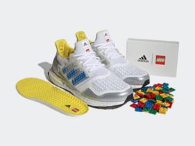 Nova parceria entre Adidas e LEGO traz tênis sustentável com peças para encaixe