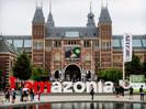 Letreiro famoso de Amsterdã é reinstalado e modificado em protesto pela preservação da Amazônia