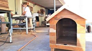 Detentos transformam entulho em casinhas para cães abandonados