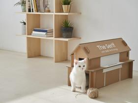 Além de sustentáveis, embalagens de TV da Samsung agora viram casinhas de gato