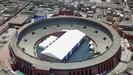 Arena de touradas histórica do Peru é trasformada em abrigo para moradores de rua durante a pandemia