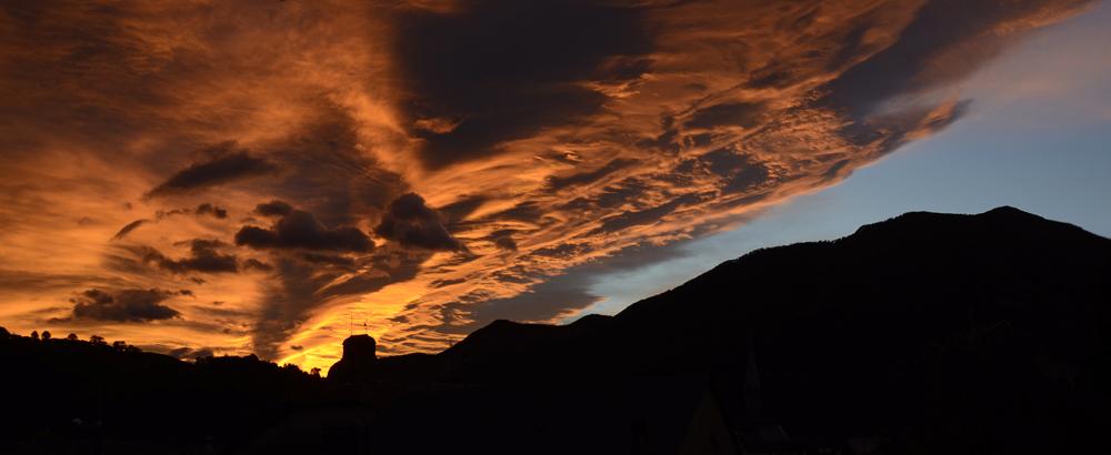 Ciel d'octobre à Arudy