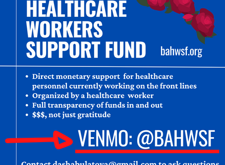 I organized the Bay Area Healthcare Worker Support Fund!