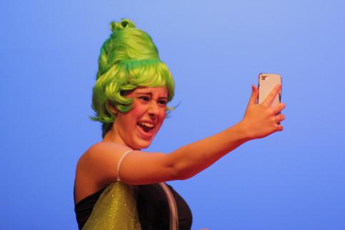 Puck takes a selfie