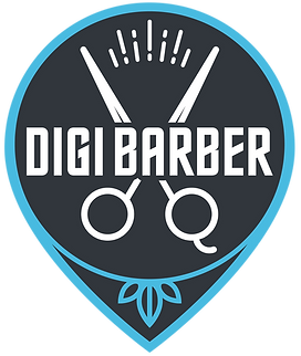 DIGI BARBER or DIGIBARBER Logo.