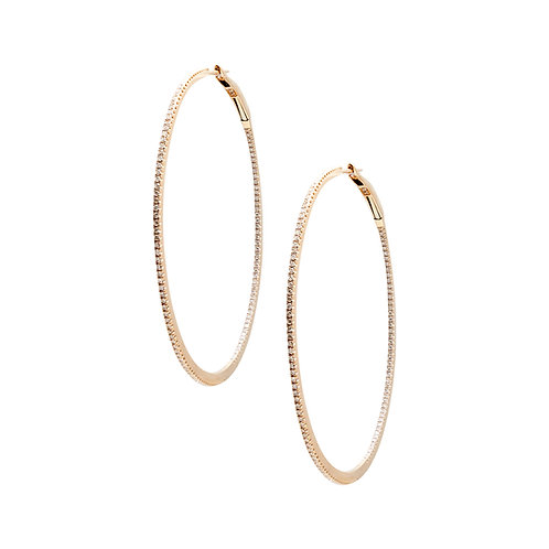 Candor Extra Large Hoops (18k Rose or White Gold)