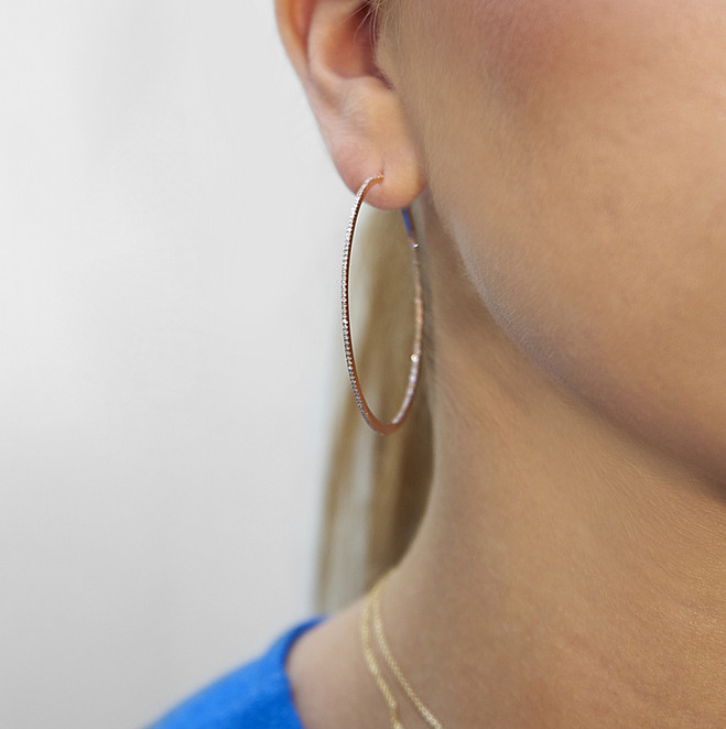 Home and Candor extra large hoops (rose