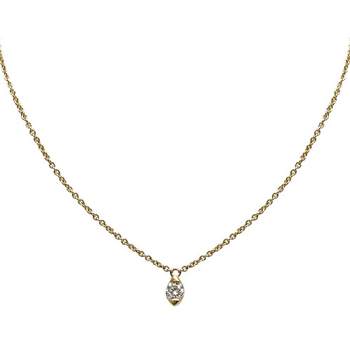 Candor Solo Necklace (18k White or Rose Gold)