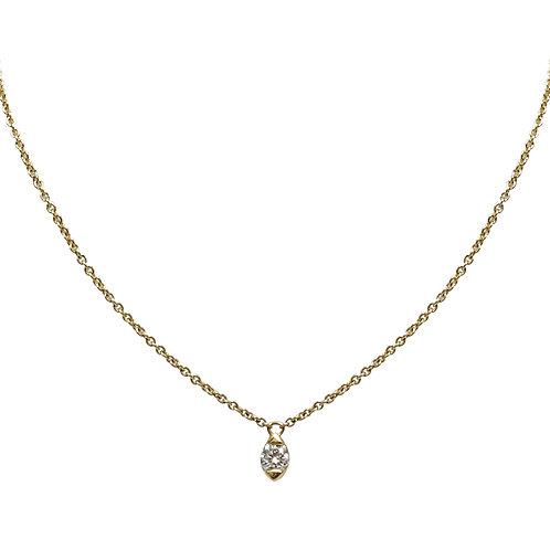Candor Solo Necklace (18k Rose Gold)