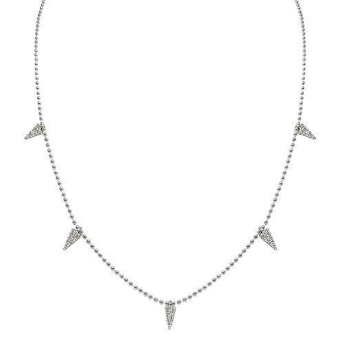 Delta Necklace (18k White Gold)