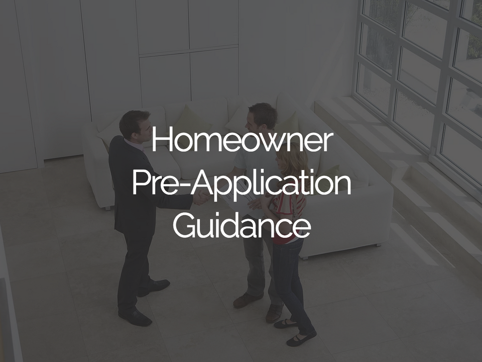 Homeowner Pre-Application Guidance