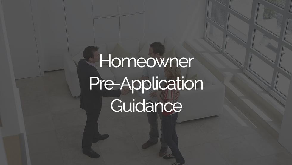 Homeowner Pre-Application Guidance