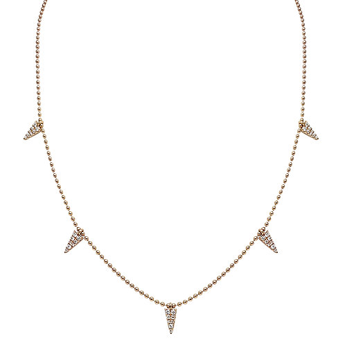 Delta Necklace (18k Rose Gold)