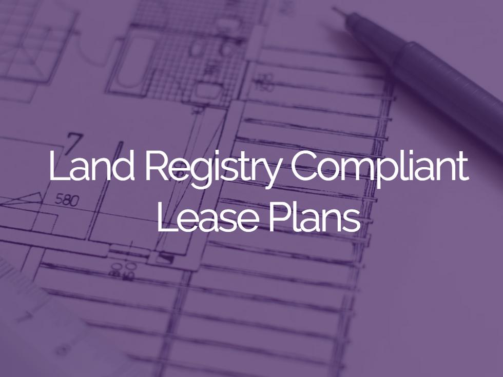 Land Registry Compliant Lease Plans