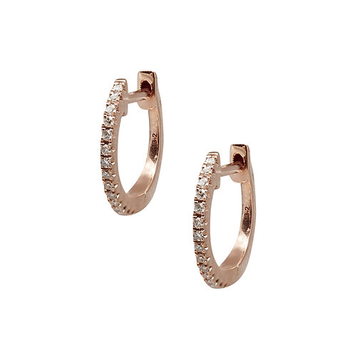 Candor Small Hoop Earrings (18k Rose, yellow or white Gold)