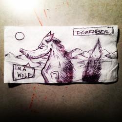 Wolf on Napkin