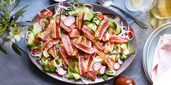 Seared Tuna Cucumber Salad