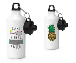 Sports Water Bottle White