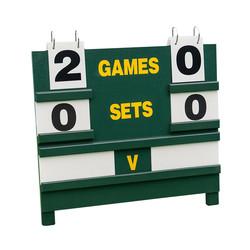 Wooden Tennis Scoreboard