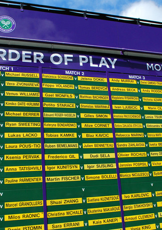 First Day Order of Play 2011