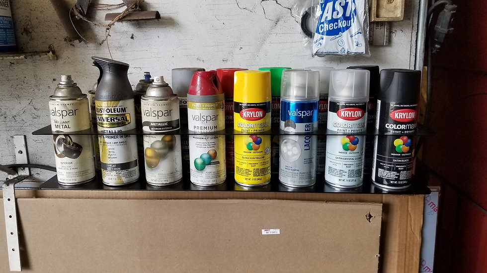 Wall Mount Spray Paint Can Holder.