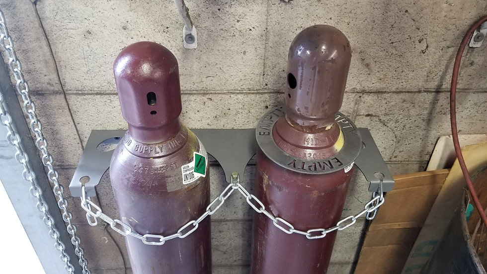 """Industrial Cylinder Holder And """"Empty"""" Ring Package."""