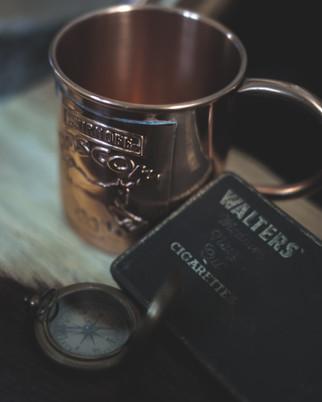 Smirnoff brass mug