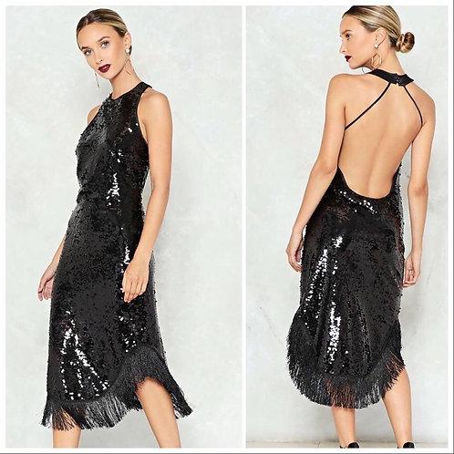 payetli kiralik elbise