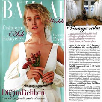 Harper's Bazaar Wedding Ekim sayısındayız
