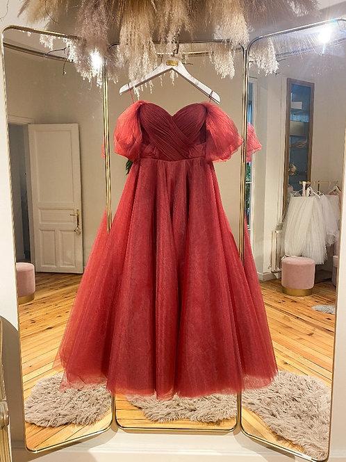 RTNC - Tütü bordo elbise