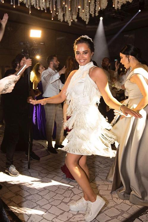 püsküllü after party elbisesi