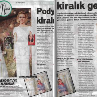 28 Ekim Star gazetesi cumartesi eki röportajımız