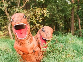 Alex & Caylin's T-rex Engagement Shoot