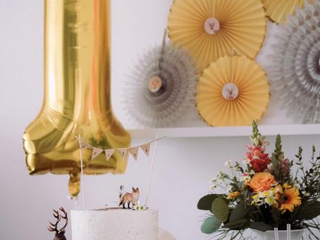 Der 1. Geburtstag - Boho Tierparty - Waldtiere & Geschenkideen