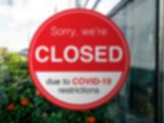 Shop, company, shopping centre closed du