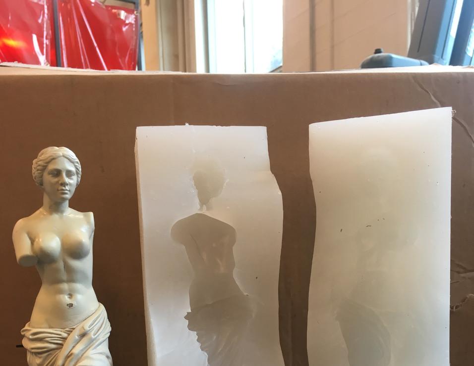 Silicon Mold of Venus Statue