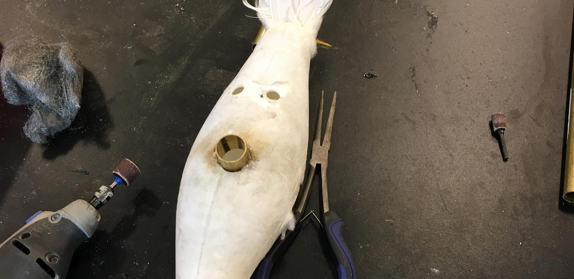 Bird Puppet in Progress