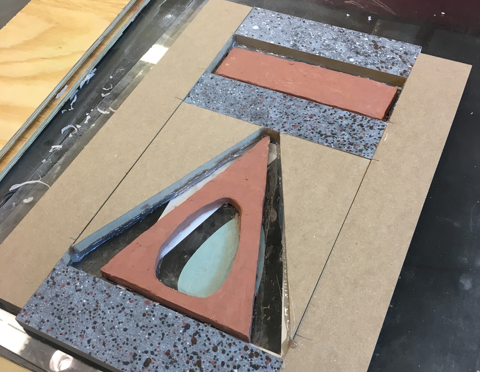 Prepping Mold for Candy Glass Statue