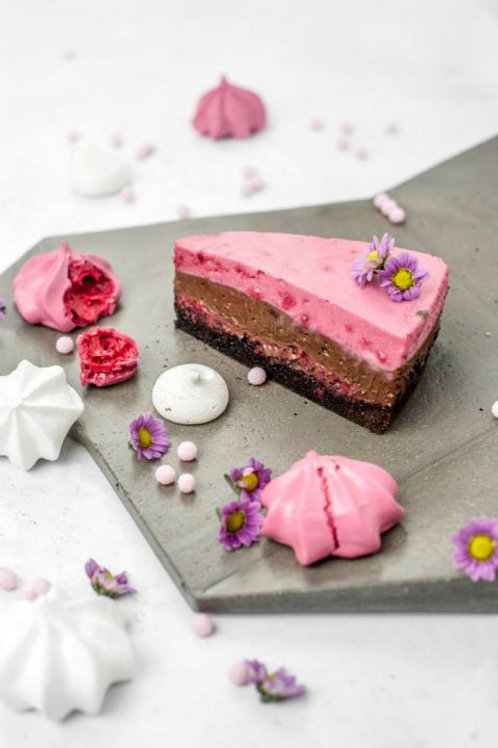 Csokoládés málnás mousse-torta