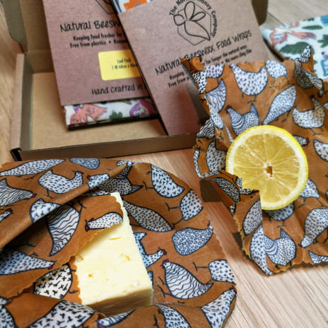 Brown Hens Beeswax Wraps