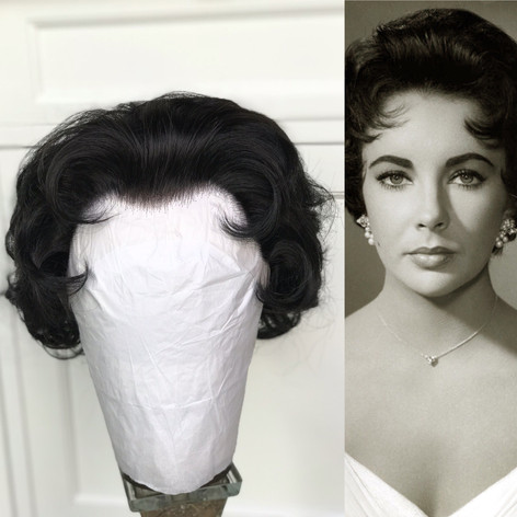 Elizabeth Taylor copy wig for a female impersonator